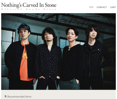 Nothing's Carved In Stone Official Goods Storeがリニューアルしました!